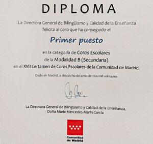 Diploma_Certamen_Coros_Comunidad_Madrid